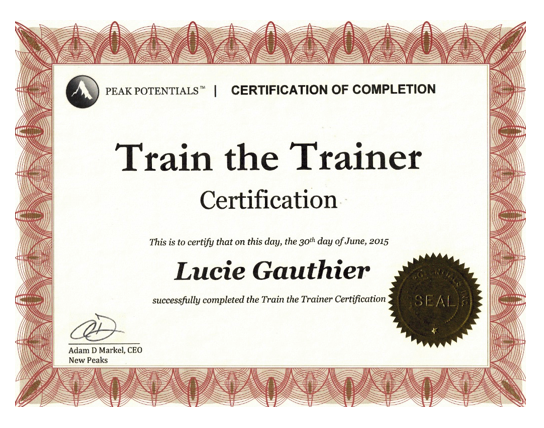 Train the Trainer - Certification